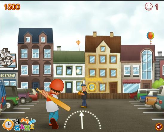 game bóng chày đường phố