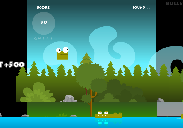 game cá sấu lên bờ