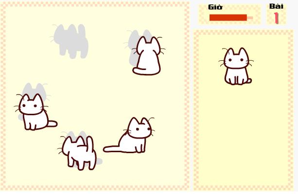game chú mèo tìm bóng