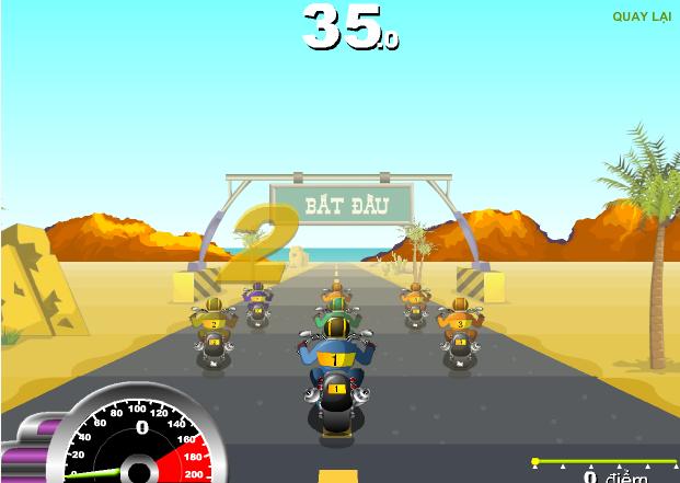 choi game Đua xe Harley