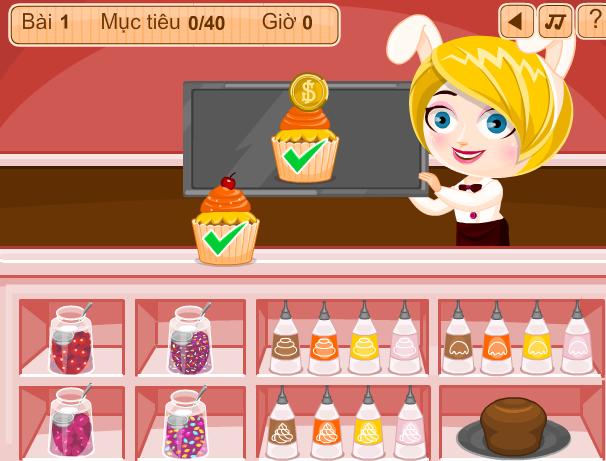 choi game cửa hàng bánh ngọt