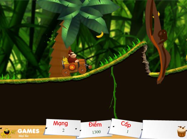 choi game khỉ đua xe 2