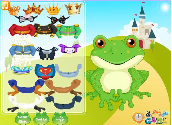 game thời trang hoàng tử ếch