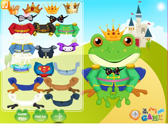 choi game thời trang hoàng tử ếch