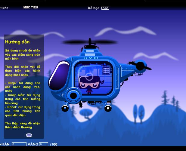 game Ninja biến hình