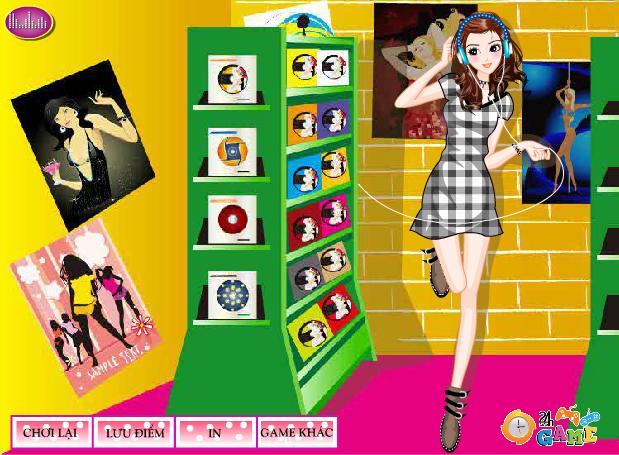 choi game thời trang âm nhạc