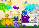 Game Tô Màu: Animal Train
