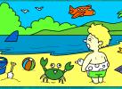 Game Tô Màu: Em Bé Bên Bãi Biển