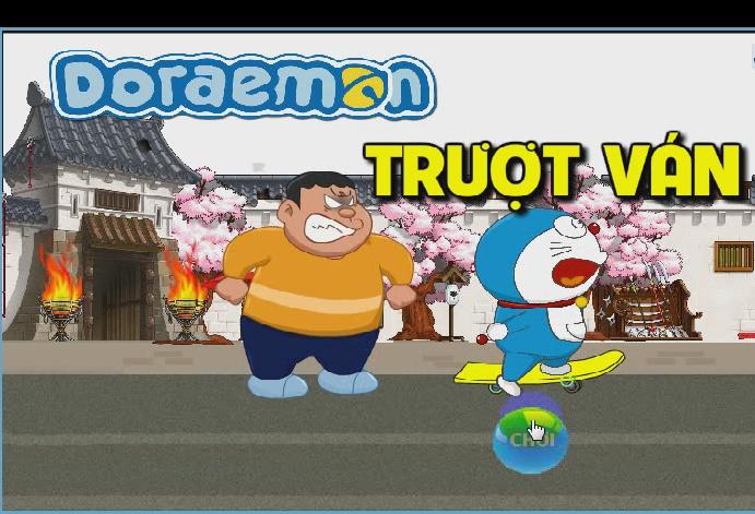 Doraemon trượt ván