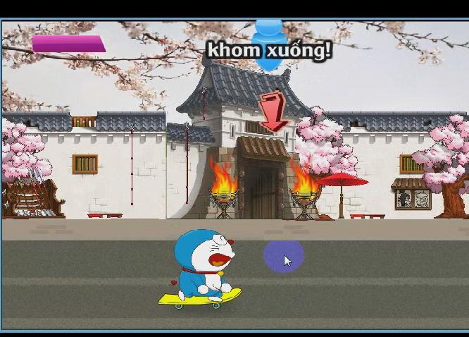 chơi game Doraemon trượt ván