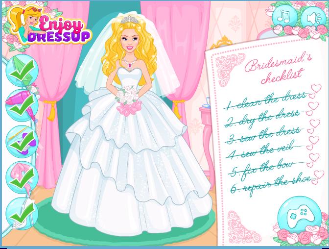 Game cô dâu Barbie làm đẹp