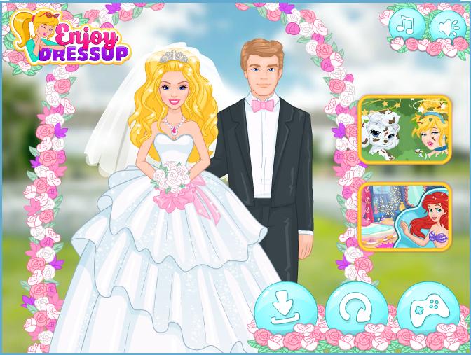 Chơi game cô dâu Barbie làm đẹp