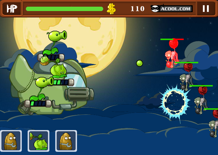 Game chiến tranh plants và zombies