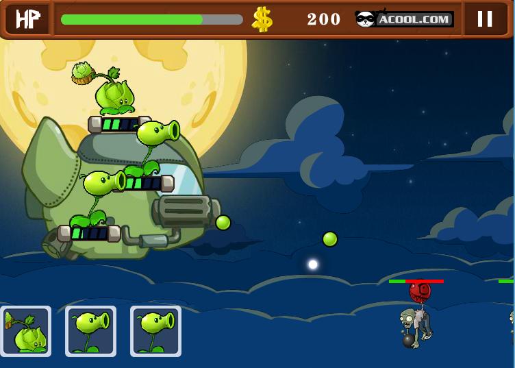 Chơi game chiến tranh plants và zombies