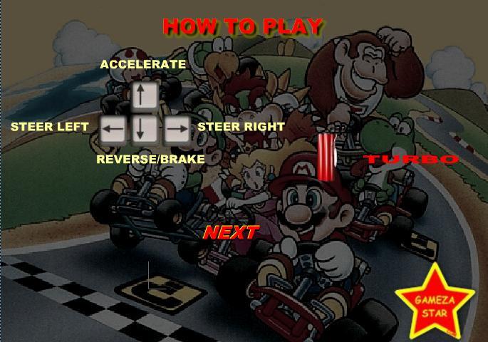 Game huyền thoại xe Kart Mario