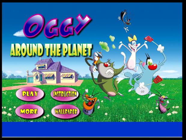 Mèo Oggy trồng cây