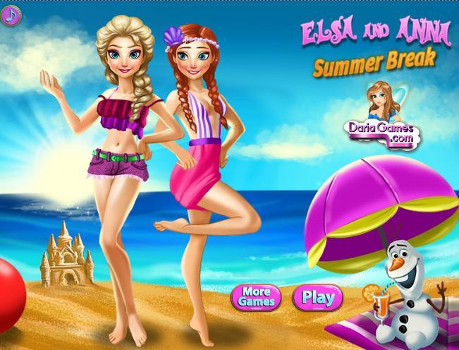 Game mùa hè của Elsa và Anna