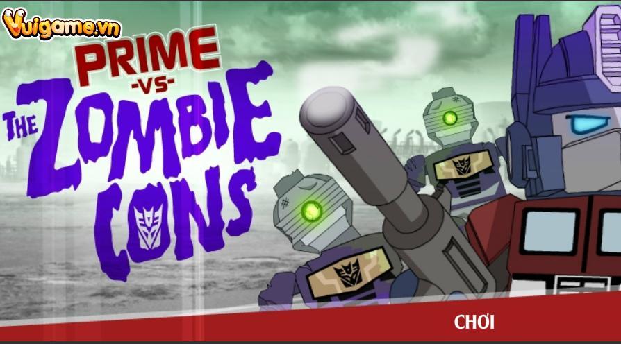 Transformer lego diệt zombie