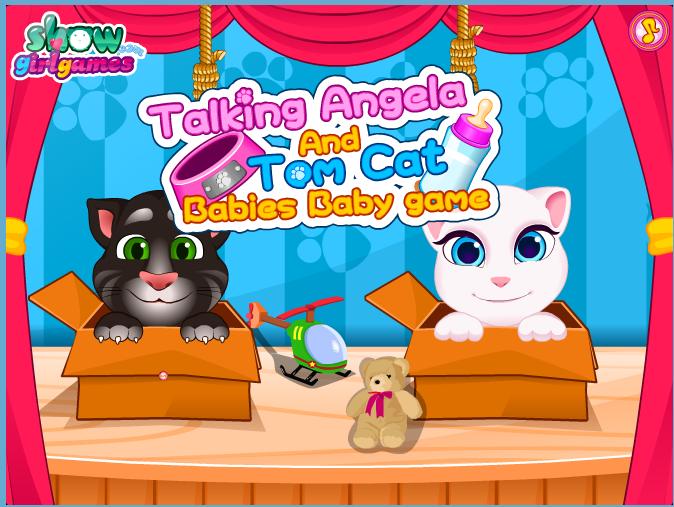 Chơi game mèo Tom và Angela baby