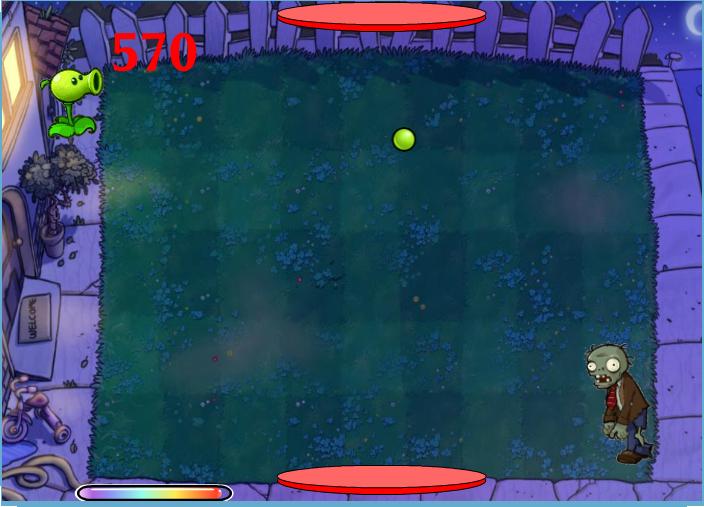 Game Plants và Zombie bắn đạn lửa