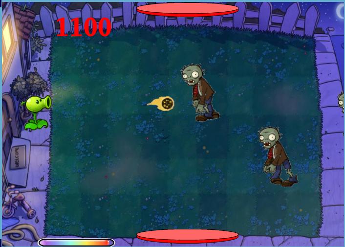 Chơi game Plants và Zombie bắn đạn lửa