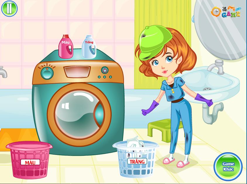 Chơi Game Linda giặt quần áo