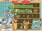 Game Tom va Jerry dọn lớp học nhanh tay lẹ mắt