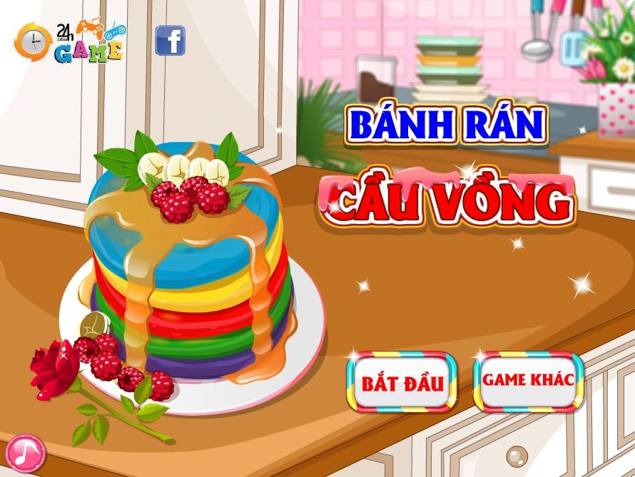 Game Bánh pancake cầu vồng