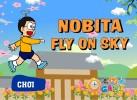 Game Bay lên nào Nobita đạp mây lên trời cực hay