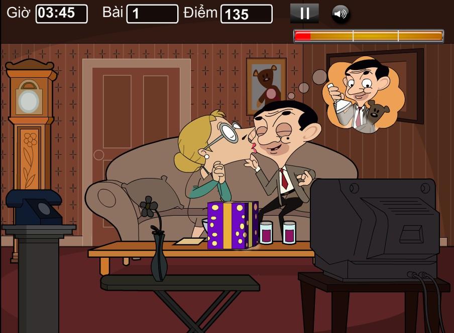 Chơi Game Hôn trộm Mr Bean
