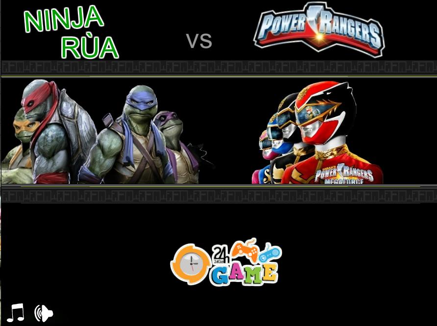 Game Ninja rùa và siêu nhân