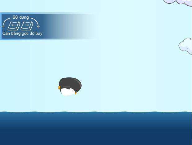 choi game chim cánh cụt học bay