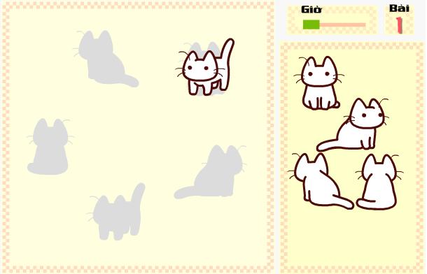 chơi game chú mèo tìm bóng