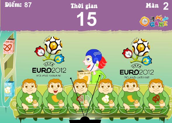 game cuồng nhiệt cùng Euro
