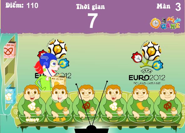 chơi game cuồng nhiệt cùng Euro