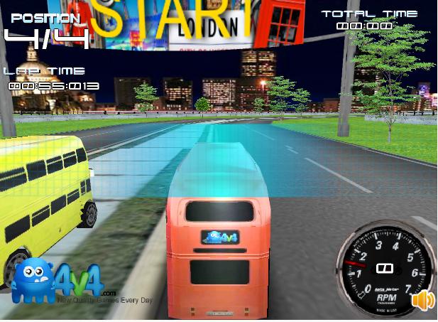 game đua xe buýt 2 tầng