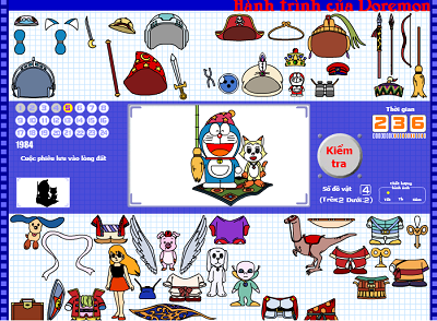 chơi game hành trình của doremon