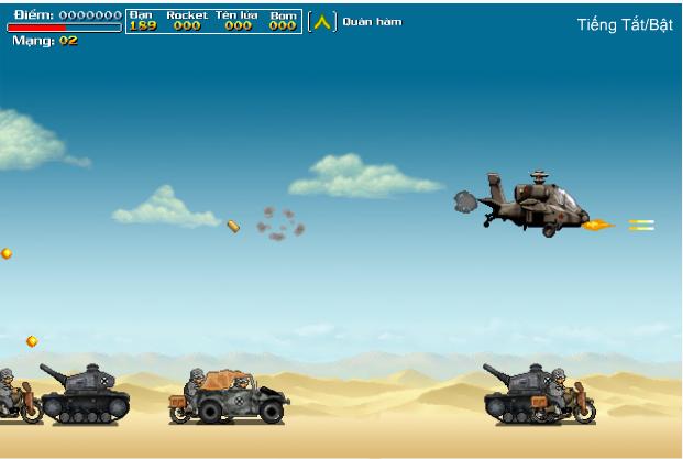 chơi game máy bay chiến đấu