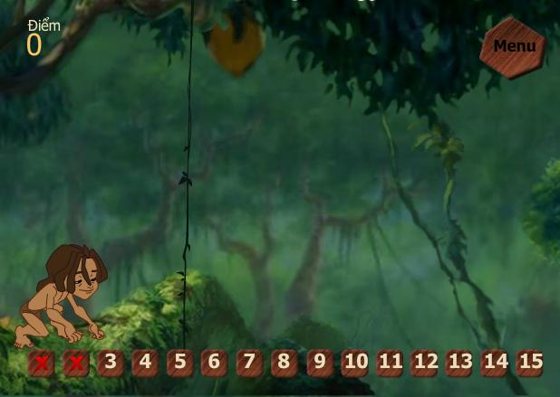 choi game Tarzan cậu bé rừng xanh