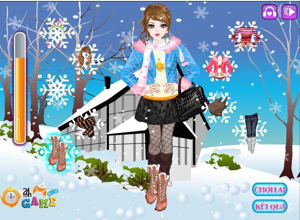 chơi game thời trang mùa đông