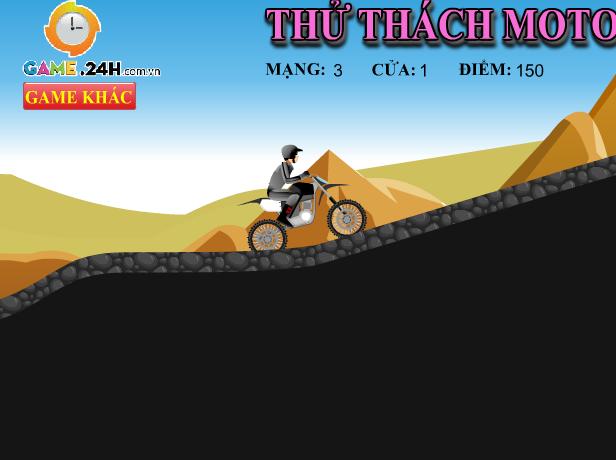 game thử thách moto