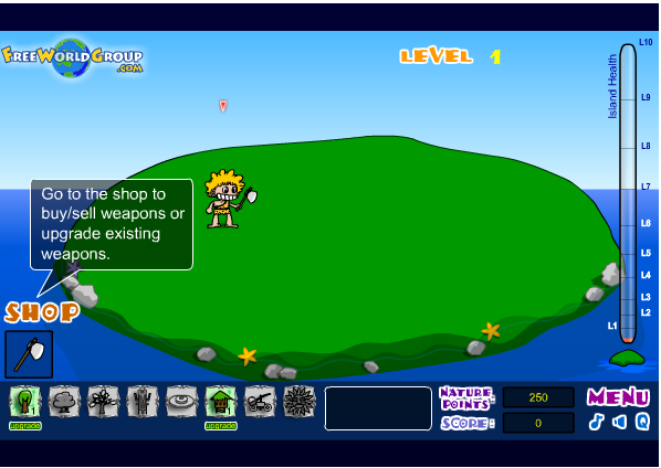 game bảo vệ đảo hoang