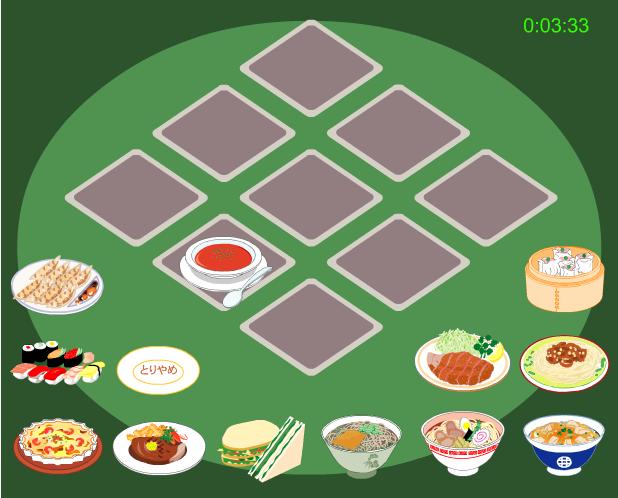 choi game ghi nhớ món ăn