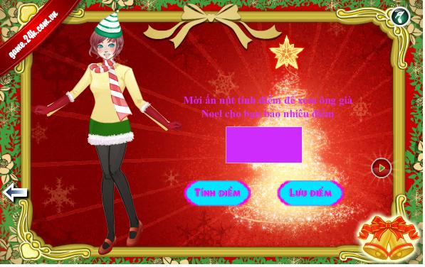 choi game thời trang đêm Noel