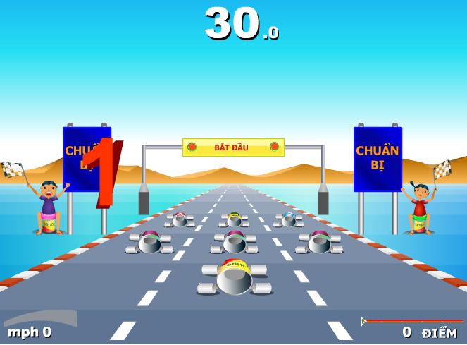 game đua xe ống bơ