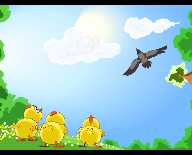 game bảo vệ gà con