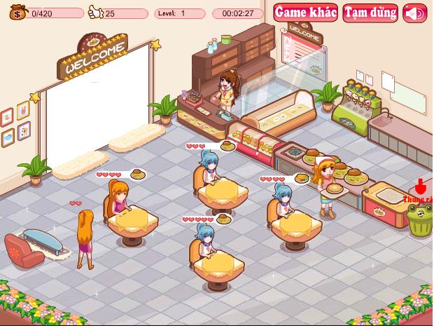 choi game cửa hàng đồ ăn nhanh