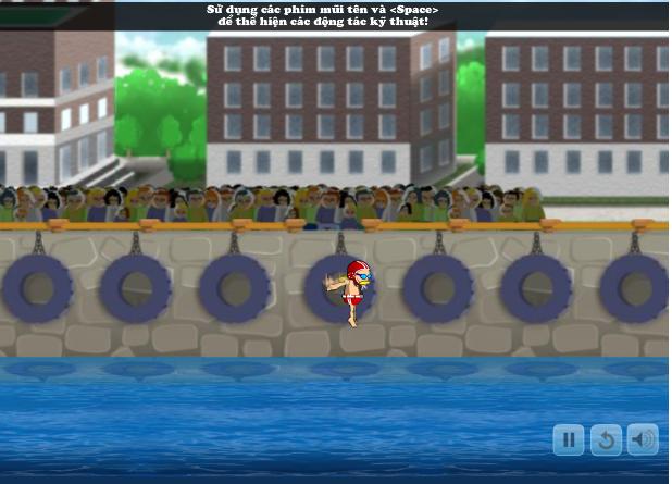 choi game nhảy cầu biển diễn