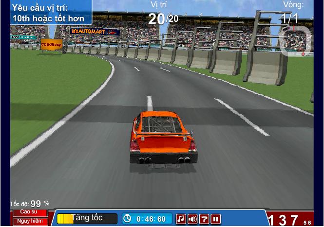 choi game đua xe kiểu Mỹ