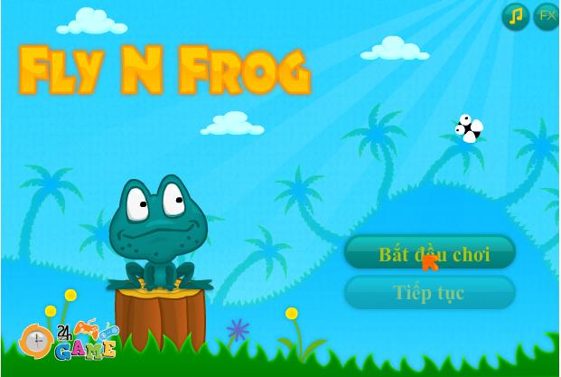 ếch xanh bắt ruồi